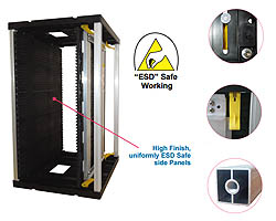 ESD Safe PCB Magazine Rack & Component Trays