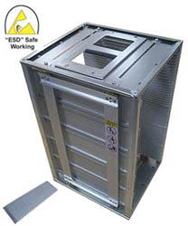 ESD Safe fully metallic high temperature PCB Rack P/N: COP-804L