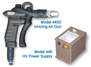 Ionizing Air Gun + High Voltage Power Supply
