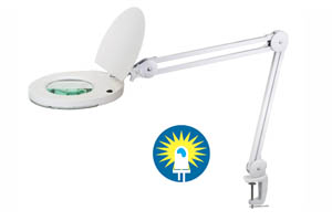 Table Clamp type LED Illuminated QC Magnifier Model I228L