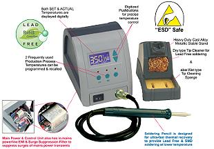 Ultra-Fast SMD Lead Free & Soldering Station Model DSSLF04HESD-UF