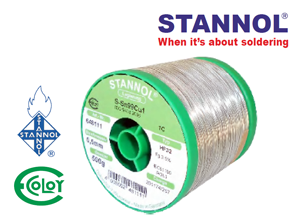 STANNOL® Leadfree Solder Wire Sn99Cu1 Type: HF-32 Series