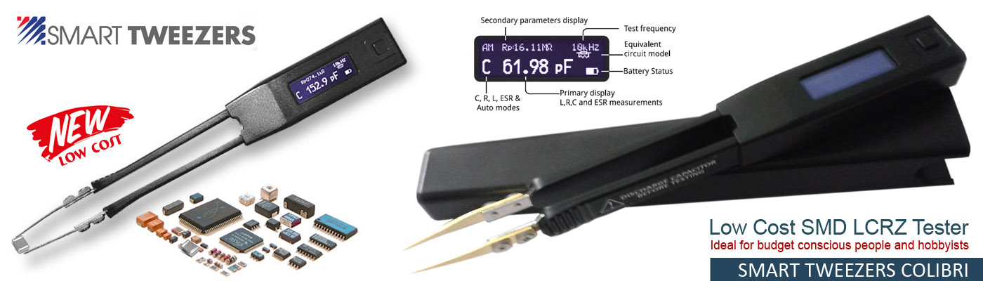 Low cost Smart Tweezers Colibri - LCR Meter