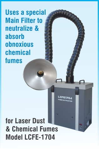 Chemical Fumes and Laser Dust Extraction Air Purifier LCFE1704