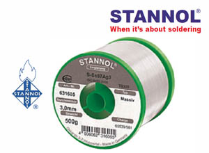 STANNOL® Leadfree Solder Wire SAC with Silver Type: HF-32 Series