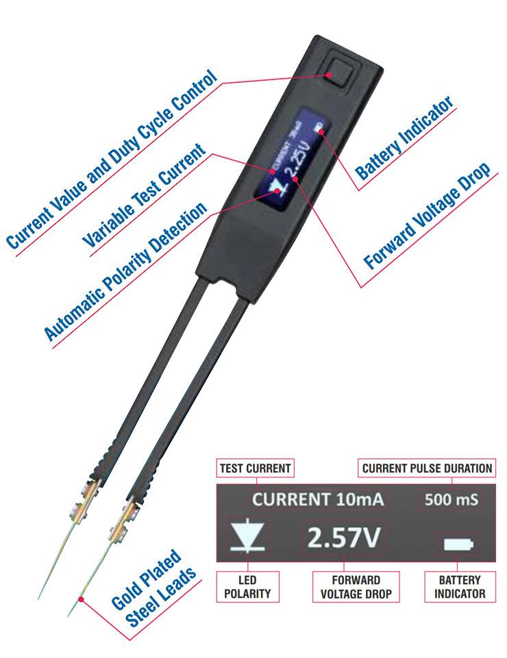 Smart Tweezers Iskra - LED Tester