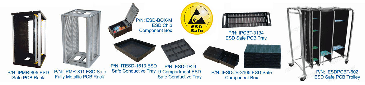ESD Safe PCB Racks | Component Trays | ESD Boxes