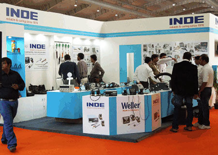 INDE Enterprises Displaying Weller Soldering Stations and Spares at Electronica India Fair