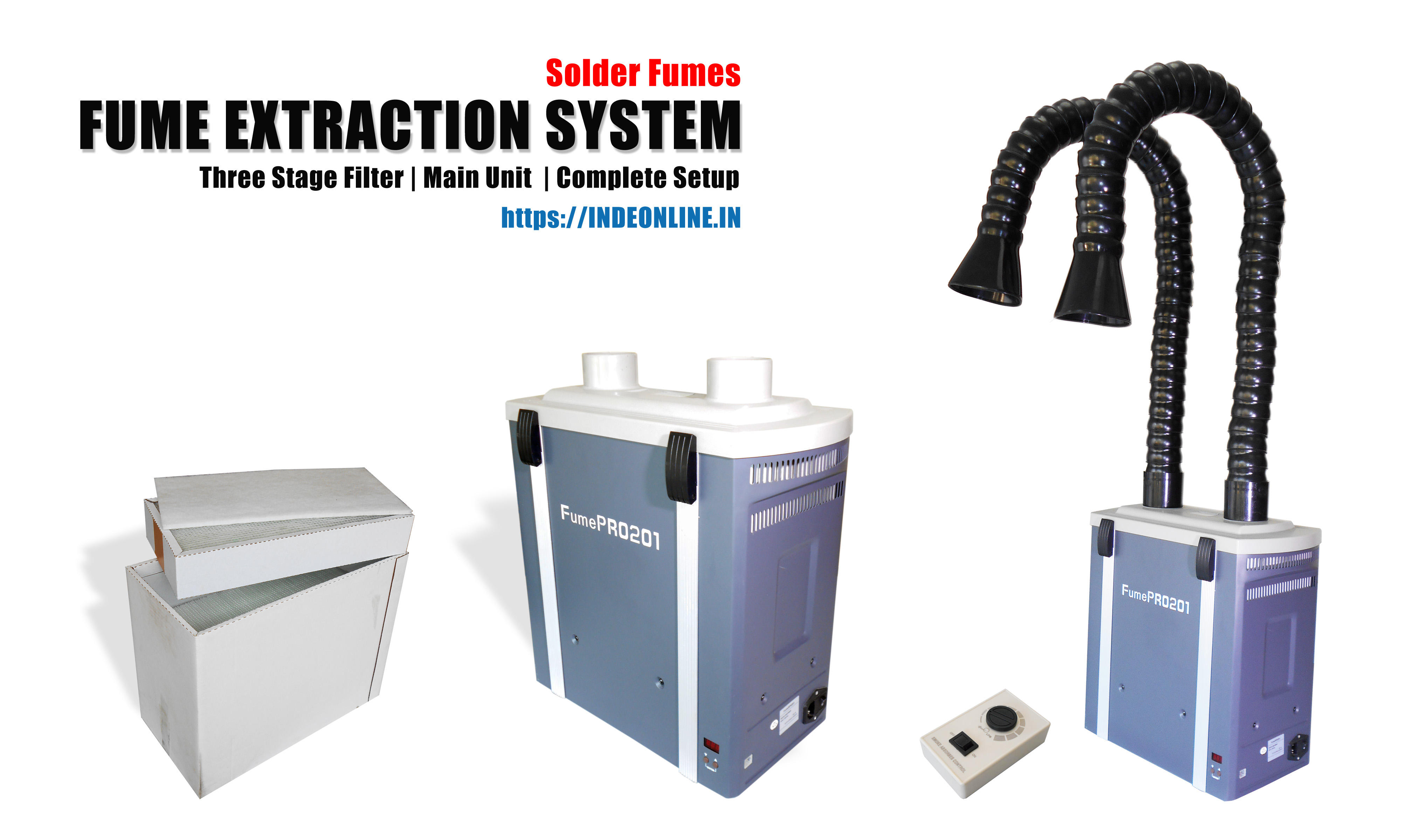 Fume Extraction System, Fume Absorbers India - Solder Fumes