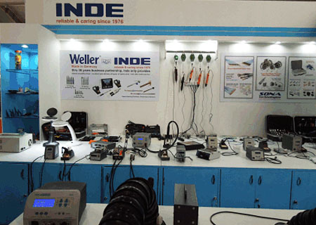 INDE Enterprises Representing Weller Soldering Stations and Spares at Electronica India Fair