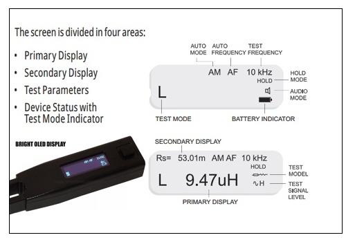 Display Division of Smart Tweezers ST-5S
