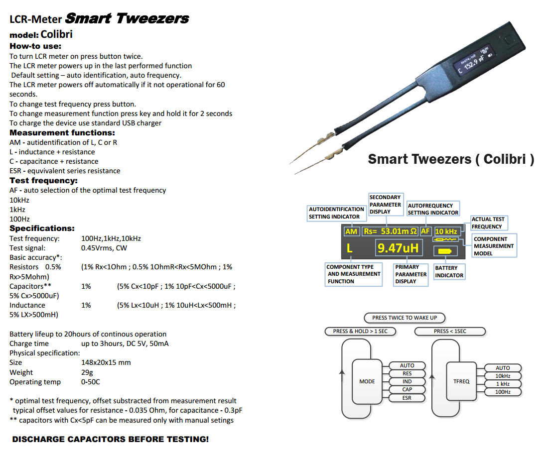 Using Smart Tweezers Colibri