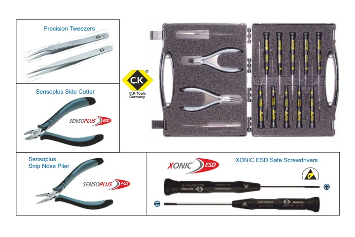 ESD Safe Toolkit from CK Tools Germany T3707DX