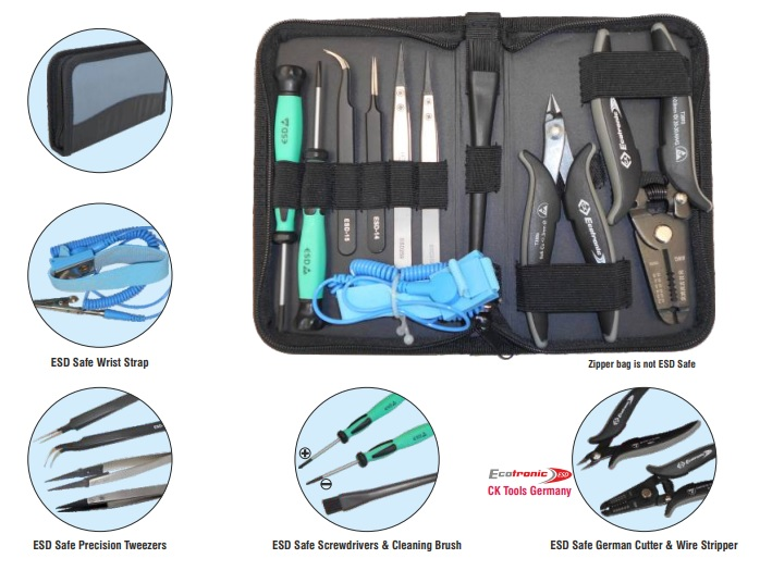 ESD Safe Toolkit in Zipper Bag Model ITK-ESD-3141
