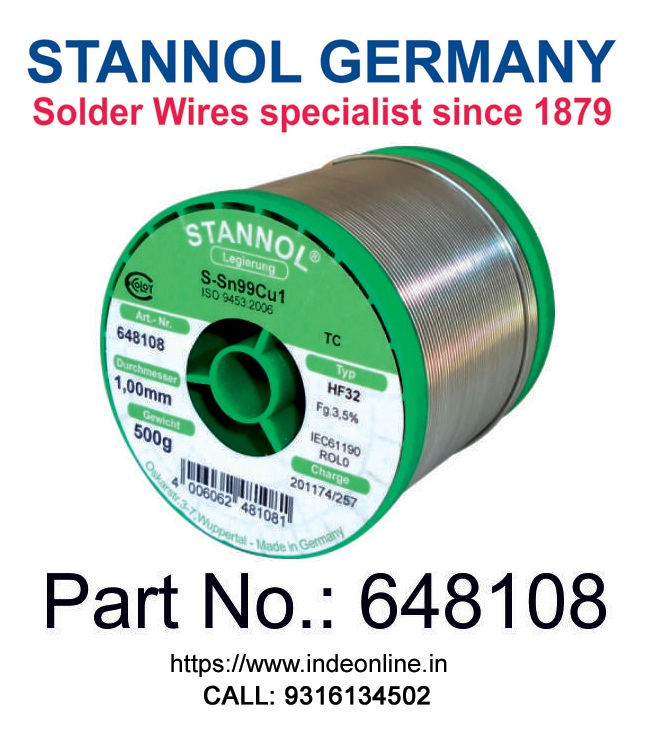 Soldering Wire with Flux Lead Alloy Sn60//Pb40 1.0mm STANNOL 250g Reel Solder