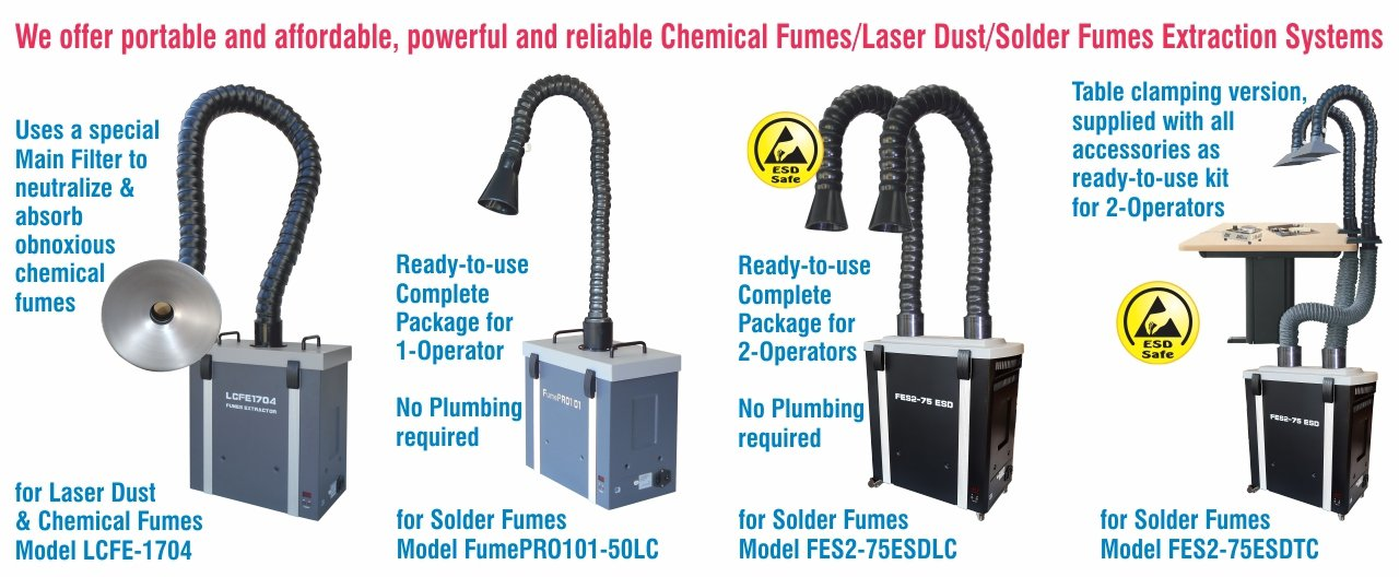 Fume Extraction Systems (Complete Range)