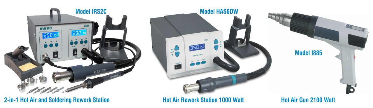 Hot Air Stations and Hot Air Gun - SMD Rework Station